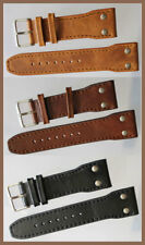 0 9/10in PILOT STRAP PILOT'S AVIATOR WRIST WATCH BAND STRONG GENUINE LEATHER IW