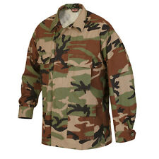 Woodland Camo BDU Uniform Men's Mil-Spec Jacket by TRU SPEC / Various Sizes