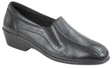 Mod Comfys Twin Gusset Wedge Leather Slip On Flexi Shoes