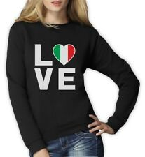 I Love Italy - Italian Patriot Flag Of Italy Cool Women Sweatshirt Gift Idea