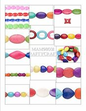 Beads CERAMIC / PORCELAIN Multicolor Mix ~ Various Sizes, Colors & Shapes