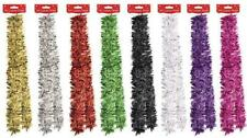 2m (6.5ft) Luxury Chunky Christmas Xmas Tinsel Tree Decoration Garland 8 Colours
