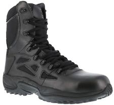 """Reebok RB8874 Rapid Response RB 8"""" Stealth Boot Side Zip Comp Toe Military Men's"""