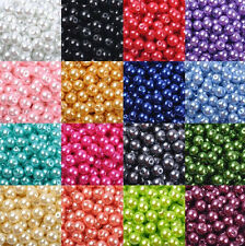 6/8/10/12mm Wholesale Round Glass Pearl Loose Spacer Beads Charm Finding Crafts