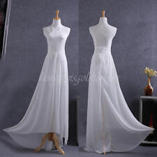 Charm Lace Long Chiffon Bridesmaid Evening Formal Party Cocktail Dress Gown Prom