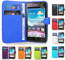 Magnetic Side Wallet Flip Book PU Leather Case Cover For Huawei Ascend Phones UK