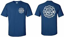 FIREFIGHTER FIRE DEPARTMENT RESCUE EMT  TSHIRT T-SHIRT SHIRT GRAPHIC WHITE