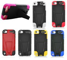 For Apple iPod Touch 6 Duo Layer Stand Hybrid Hard Shell Cover Case Protector