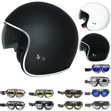 LEOPARD LEO-601 Open Face Motorbike Motorcycle Crash Helmet Road Legal + Goggles