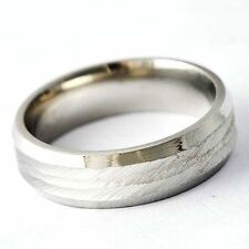 Fashion Jewelry Mens Womens titanium stainless steel Band Ring SIZE 8-12