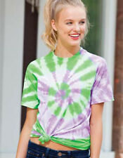 Tie Dye Two Color Spiral T-Shirt Womens T Shirt