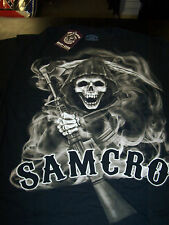 SONS OF ANARCHY REAPER SMOKEY SONS SAMCRO DOUBLE SIDED PRINT T-SHIRT NEW !