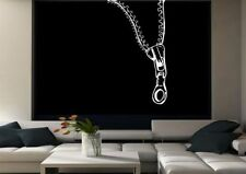 Zip Abstract Vinyl Wall Sticker Decal Transfer Mural Stencil Art Tattoo Print