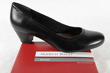 Marco Tozzi Court shoes 22307 Slippers Black Leather New