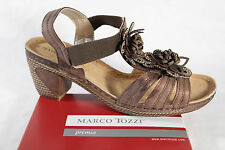 Marco Tozzi Women's Sandals, brown, soft leather insole, Block heel NEW