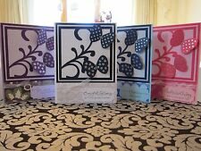 Stampin Up Butterfly Punch, Embossed Handmade Greeting Card (YOU PICK GREETING)