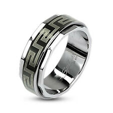 Unisex Ring Black Size 5 Stainless Steel New - Jewelry by COOLBODY