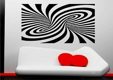 Abstract Modern Illusion Wall Sticker Art Mural Decal Transfer Stencil Vinyl