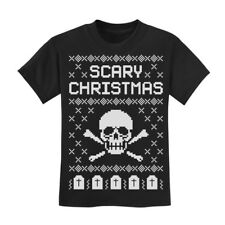 Ugly Christmas Sweater - Skull Scary Christmas Cool Kids T-Shirt Children Xmas