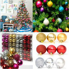 24PC Xmas Tree Ball Bauble Hanging Ornament Decoration Party Holiday Decor FT76