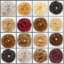 SYNTHETIC HAIR SCRUNCHIE SHORT WITH LONG TRAILS FOR BUN PONYTAIL UPDO BOUNCE