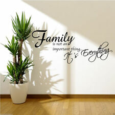 FAMILY IS EVERYTHING Wall Art Sticker Quote Room Decal Mural Stencil Transfer