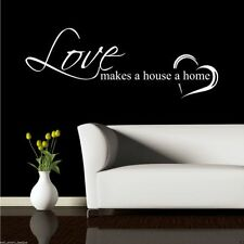 Home Love Family Wall Art Sticker Quote Decal Mural Stencil Transfer Graphic