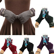 Stylish Cute Womens Touch Screen Winter Warm Weaved Knit Wrist-Gloves Mittens
