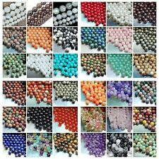 Wholesale Lot Natural Stone Gemstone Round Spacer Loose Beads 4MM 6MM 8MM 10MM