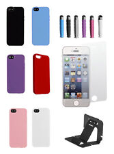 TPU Solid Silicone Gel Soft Case Cover For iPhone 4/4S free stylus screen stand