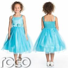 Girls Aqua Dress, Party Dress, Girls Prom Dresses, Girls Dresses