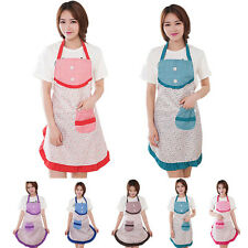 Women Vintage Apron Kitchen Restaurant Bib Cooking Aprons With Pockets Apron new