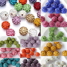 Sell 20Pcs Czech Crystal Rhinestones Pave Clay Round Disco Ball Spacer Bead 9mm