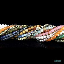 natural gemstone beads 4mm round stone for jewelry necklace design DIY 15.5""