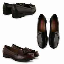 WOMENS LADIES DOLCIS FLAT CASUAL SCHOOL WORK FRINGE SUMMER LOAFERS SHOES PUMPS