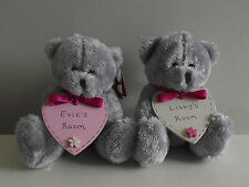 Personalised Children's Bedroom Sign Plaque With Teddy Bear - See Variations