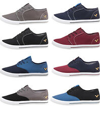 Mens Designer Voi Jeans Canvas Shoes Lace Up Pumps Trainers Plimsoles Footwear