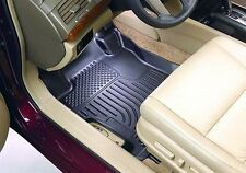 WeatherBeater BLACK 2 Row Set Floor Liners Husky Liners All Weather Mats