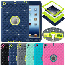 Bling Crystals Hybrid Heavy Duty Rubber Shockproof Hard Case Cover For iPad mini