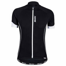 SANTINI SMS ORA SHORT SLEEVE BIKE JERSEY BLACK 2016