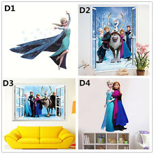 Elsa Anna Disney Frozen Princess Wall Stickers Decals Removable Art Decor Home