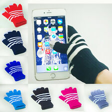 1 Pair New Unisex Winter Magic Touch Screen Knitted Gloves Smartphone Texting b7