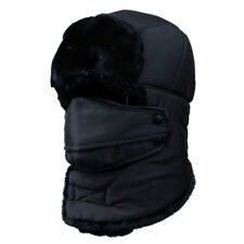 Mens Aviator Trapper Hunter Waterproof Earflap Faux Fur Russian Ushanka Ski Hat