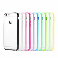 Matte Clear Transparent Back Case with TPU Bumper Cover Apple iPhone 6 & 6S