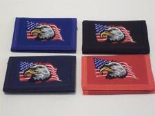 American Eagle Wallet Trifold Embroidered Canvas Flag US USA America Patriot