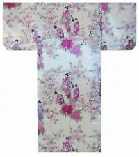 Woman's KIMONO(MAIKO and Cherry flowers) with OBI Authentic JAPAN SLK995