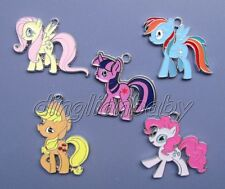 Lot Mixed My Little Pony Metal Charm Pendants DIY Jewelry Making Party Gift QQ1