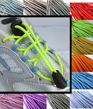 Elasticated Shoe laces with a choice of COLOURED cord locks/laces - running kids