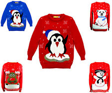 NEW CHILDRENS KIDS BOYS GIRLS CHRISTMAS XMAS RETRO WINTER JUMPER SWEATER AGE