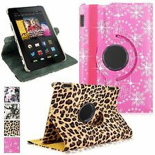 "For Amazon Kindle Fire HD"" 7"" inch 2014 4th Gen Rotating Leather Flip Stand Case"
